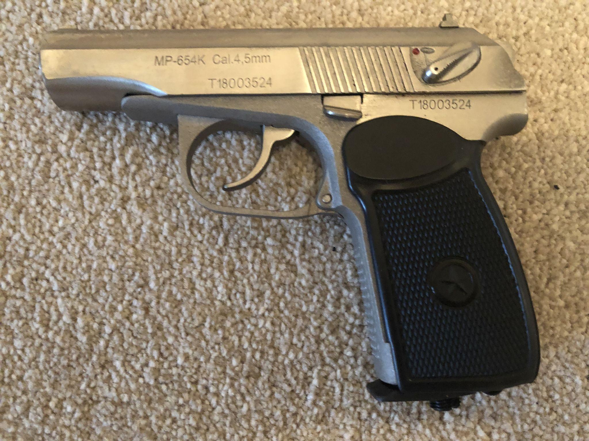 Baikal  177 Makarov Legend Pistol KGB marked silver